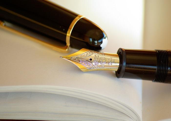 4hhwriting pen ink fountain pen gold ball pen cue stick 1234681
